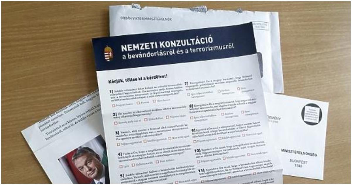 Máig 1 millió 192 ezer magyar töltötte ki a nemzeti konzultációs íveket